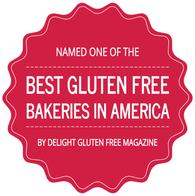 Named one of the Best Gluten Free Bakeries in America by Delight Gluten Free Magazine